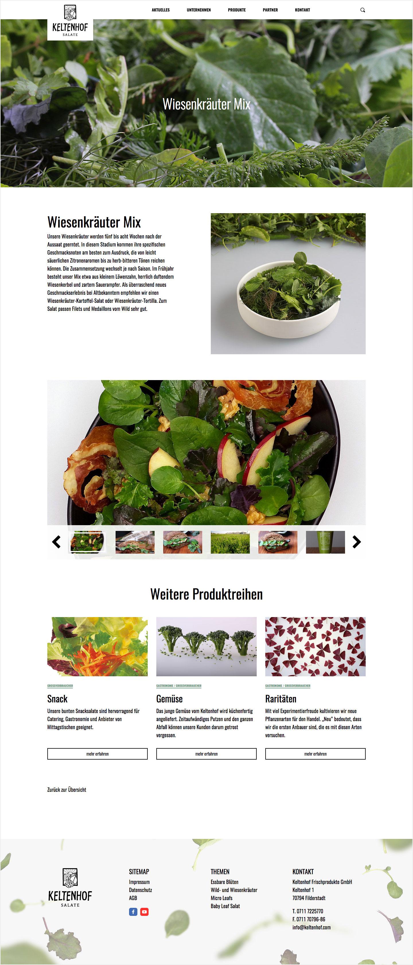 Keltenhof Produktseite